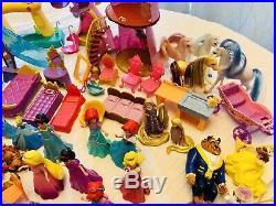 HUGE LOT Disney Magic Clip Polly Pocket Princess Prince Dolls Figures Gowns More