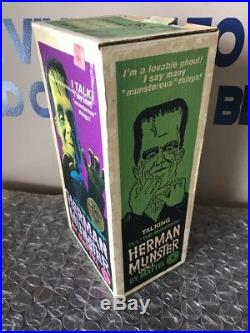 Herman Munster Talking Doll With Original Box 1964 Mattel