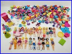 Huge Lot Polly Pocket 23 Dolls, Animals, Disney Princess Hundreds of Accessories
