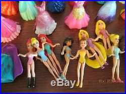 Huge Lot of Disney Princess MagiClip Dolls Figures & Dresses Gliders with Prince