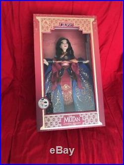 LIMITED EDITION LE 5500 Doll Princess MULAN Disney 17 NIB Mint