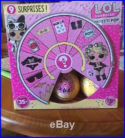 L. O. L LOL SURPRISE DOLLS CONFETTI POP WAVE 2 BIG SIS CASE BOX of 18 MGA