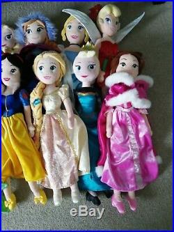 Large Bundle Disney Store Princess Dolls Plushes 50cm 15 Dolls Jasmine Belle