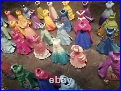 Large Bundle of Disney Princess Magic Clip 45 x Dolls 38 x Dresses + Extras