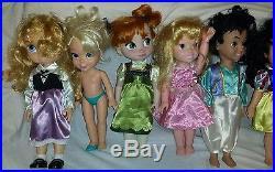 Lot Of 11 Disney Store Animator Toddler Princess Collector Dolls