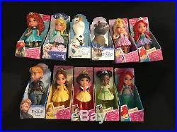 Lot Of 11 MINI TODDLER DOLLS Disney Princess NIB