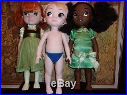 Lot Of 14 Adorable Disney Animator Princess Dolls Rapunzell Belle Brave Frozen++