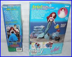 Lot Set Of 2 Tyco The Little Mermaid Ariel Doll Eric The Sailor Action Dolls
