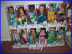 Lot of 16 Disney Store Animators Animator 16 Toddler Doll Princess 2nd Ed