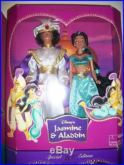 Lot of 2 Disney Princess Snow White Wedding -Jasmine & Aladdin Gift Set SE