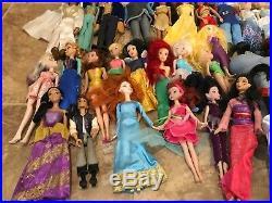 Lot of 35 DISNEY princess & princes Dolls some rares