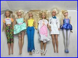Lot of 47 Barbie, Kelly Disney Princess Dolls Accessories Clothes Huge Modern