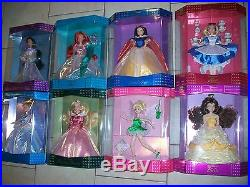 Lot of 8 RARE Disney Exclusive Classic Doll Collection Alice-Ariel-TinkerBelle