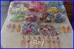 MASSIVE Collection Disney Princess Polly Pocket 750+ Pieces Boys Dolls HUGE LOT