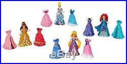 MATTEL Disney Princess MagiClip Dolls & Dresses Shimmer Fashion Set Merida NEW