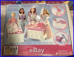 Mattel Disney Princess Party Dolls Set Ariel Jasmine Belle Aurora Snow White HTF
