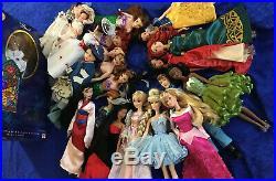 Mattel and Disney Princess Dolls HUGE LOT 22 Dolls