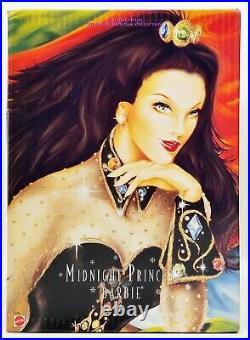 Midnight Princess Barbie Doll Brunette 1997 Walt Disney Teddy Bear Convention