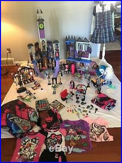 Monster High Deadluxe High School Doll House Werecats Die-ner Mad Lab Circus LOT