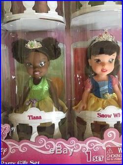 My First Disney Princess Petite Princesses Party Gift Set 7 Dolls Rapunzel Ariel