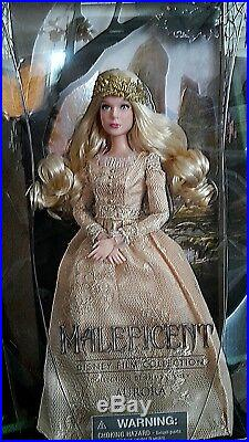 NEW DISNEY STORE MALEFICENT AURORA FILM COLLECTION DOLL 12 collectors
