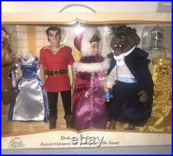 NEW Disney Beauty and the Beast Deluxe Doll Set 11 Dolls Belle Gaston Gift RARE