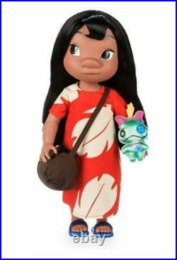 NEW Disney Store Animators Collection Lilo Toddler 16 Doll w Scrump RARE HTF