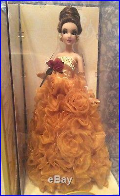 NEW Disney Store Belle Designer Doll Limited LE Beauty & the Beast Princess RARE