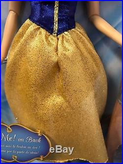 NEW! Disney Store PRINCESS SNOW WHITE SINGING DOLL 12 Articulated Arms Posable