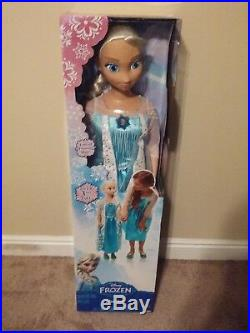 NEW Princess Elsa Life Size Doll 38 Tall Frozen My Size Huge 3 ft SEALED