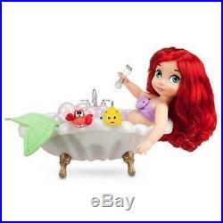 NIB Disney Animators' Collection Deluxe Doll Gift Set Princess Ariel Bathtub