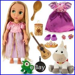 NIB Disney Animators' Collection Deluxe Doll Gift Set Princess Rapunzel, Pascal