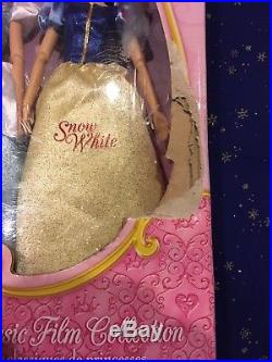 NIB Disney Store Princess Classic 12 Barbie Doll Collection Gift Set 11 Dolls