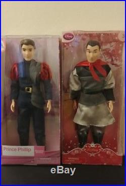 NIP Disney Store Prince Classic Doll Set Beast Aladdin Eric Princess Lot of 10