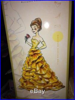 NRFB Disney Store Designer Princess doll BELLE Limited Edition #2235 in case