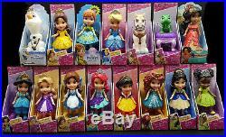 New 15 x Disney Princess Mini Toddler Doll Olaf Anna Snow White Tiana Bulk Lot