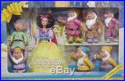 New Disney Classic Snow White And The 7 Dwarfs Princess Barbie Doll Gift Set