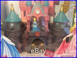 New Disney Parks Magiclip Doll Castle Princess Playset Lights Sounds Fireworks