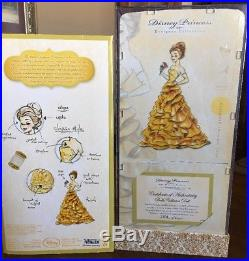 New Disney Princess Designer Collection Belle Collector Doll Limited Edition