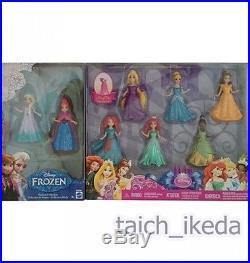 New Disney Princess Magic clip Dolls Mattel 8 PK From Japan