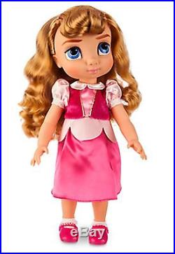 New Disney Store Aurora Doll Gift Set Animators' Prince Phillip & Maleficent +