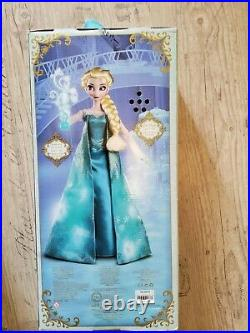 New Disney Store Deluxe Light Up Singing Princess Doll Elsa 16