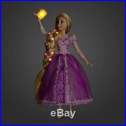 New Disney Store Deluxe Light Up Singing Princess Doll Tangled Rapunzel 16 Mib