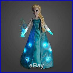 New Disney Store Deluxe Light Up Singing Princess Dolls Elsa 16 Factory Sealed
