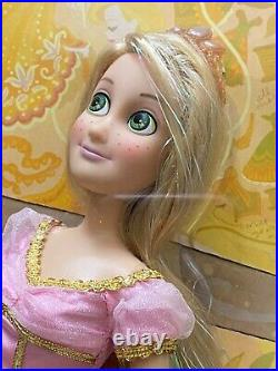 New Disney Store Uk Tangled Rapunzel 2 Doll Set Flynn Ryder 17 Hair Nrfb Rare