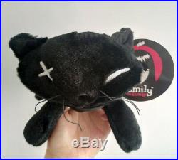 New Emily the Strange 8inch Stuffed plush toy doll Black Cats set of 4