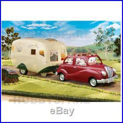 New Sylvanian Families Caravan + Family Saloon Car Combo Set Deal 5045 4611