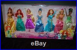 New Ultimate Disney Princess Collection 7 Pack Doll Merida Ariel Cinderella