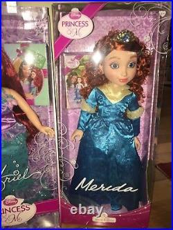 Nib Disney Princess & Me Ariel And Merida 18' Dolls Jewel Edition Ship Everyday
