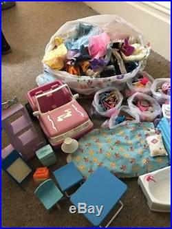 Over 100 Barbie Clothes And Shoes Bundle Job Lot Disney Princess Dolls Bargain